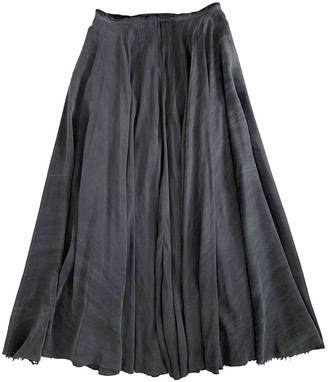 Avelon Grey Silk Skirt for Women