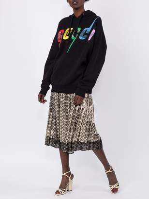 Oversize Sweatshirt With Gucci Blade Black