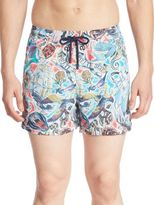 Etro Tattoo Printed Swim Shorts