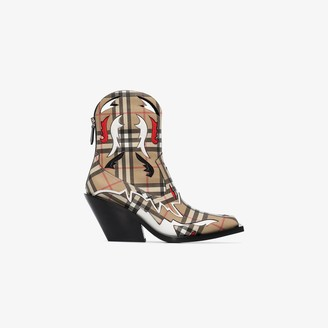Burberry Multicoloured 60 Vintage check Western boots