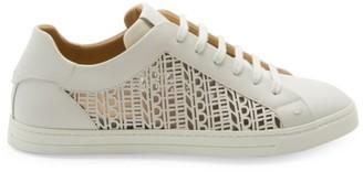 Fendi Vitellow Laser Cut Low-Top Sneakers