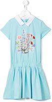 Fendi flared dress - kids - Cotton/Spandex/Elastane - 12 yrs