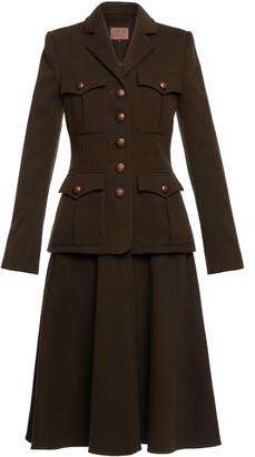 Lena Hoschek Partisan Convertible Cotton-Blend Military Coat