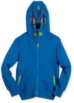 Stella McCartney Bandit Masked Hooded Sweatshirt, Blue, Size 4-10