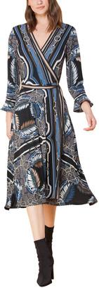 Hale Bob Wrap Midi Dress