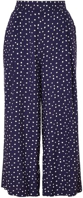 Collection WEEKEND by John Lewis Polka Dot Wide Leg Culottes, Navy