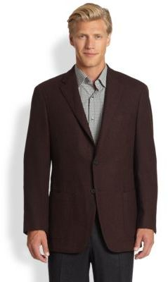 Saks Fifth Avenue Collection Black Label Textured Wool Jacket