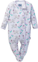 Beanstalx Eric Carle Sheep Kimono Playsuit Footie (Baby Girls)