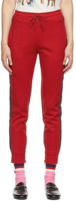 Gucci Red GG Cherries Lounge Pants