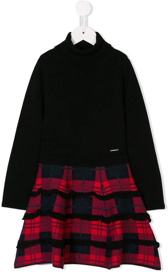 DSQUARED2 tartan knitted dress