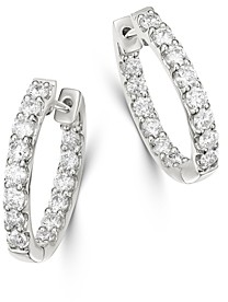 Bloomingdale's Diamond Inside-Out Oval Hoop Earrings in 14K White Gold, 1.50 ct. t.w. - 100% Exclusive