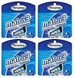 Personna Matrix3 Titanium Triple Blade Refill Cartridge Blades, 4 Ct. (Pack of 4) + FREE Schick Slim Twin ST for Dry Skin