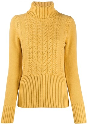 Paule Ka High Neck Cashmere-Blend Jumper