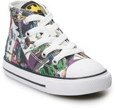 Converse Toddler Boys' Chuck Taylor All Star Batman 80th Anniversary Collaboration High Top Shoes