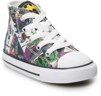Converse Toddler Boys' Chuck Taylor All Star Batman 80th Anniversary Collaboration High Top Shoes