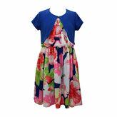 Bonnie Jean Floral Dress w/ Cardigan- Girls' 7-16