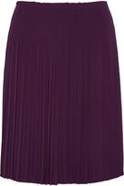 Prada Pleated Crepe Skirt - Grape