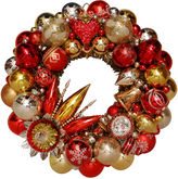 One Kings Lane Vintage Red, Gold & Silver Ornament Wreath