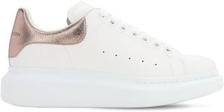 Alexander McQueen 45mm Leather & Metallic Leather Sneakers