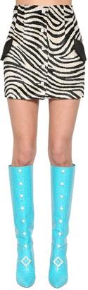 Giuseppe di Morabito Zebra Printed Mini Skirt