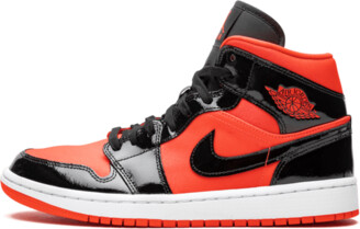 Jordan Womens Air 8 Retro 1 Mid 'Hot Punch' Shoes - Size 12W