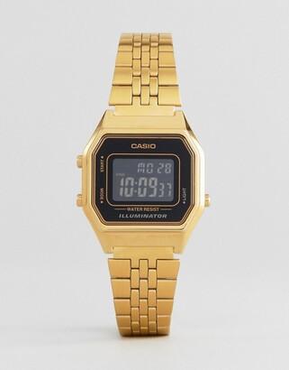 Casio LA680WEGA-1BER Unisex mini digital black dial watch