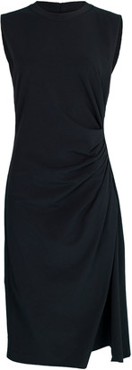 Brunello Cucinelli Ruched Jersey Fitted Dress