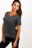 Pink Boutique Don't Quit Grey Sports T-Shirt