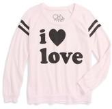 Chaser Girl's I Love Love Sweatshirt