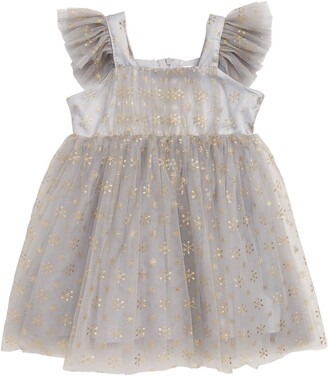 Popatu Metallic Star & Snowflake Tulle Dress