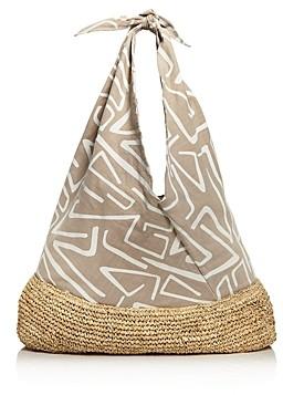 Kayu Lula Large Cotton & Straw Tote