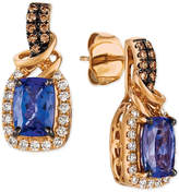 LeVian Le Vian Chocolatier® Blueberry Tanzanite® (1-3/4 ct. t.w.) & Diamond (1/3 ct. t.w.) Drop Earrings in 14k Rose Gold