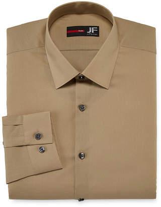 Jf J.Ferrar Extra Tall Easy-Care Solid-Big & Tall Mens Point Collar Long Sleeve Dress Shirt