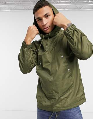 Pretty Green pocket front pullover jacket in khaki