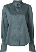 Jil Sander Navy button collar blouse