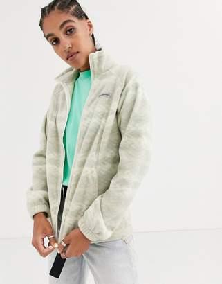Columbia Benton Springs printed full zip fleece in beige-Cream