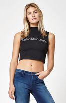 Calvin Klein For PacSun Mock Neck Cropped Tank Top