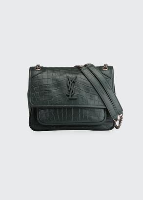 Saint Laurent Niki Baby Mock Croc Shoulder Bag