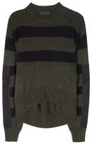 Haider Ackermann Striped Mohair And Wool-blend Sweater