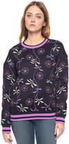 Juicy Couture Roma Floral Mirror Emb Fr Tr Pullover
