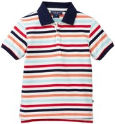 Toobydoo Janvier Striped Polo (Toddler & Little Boys)