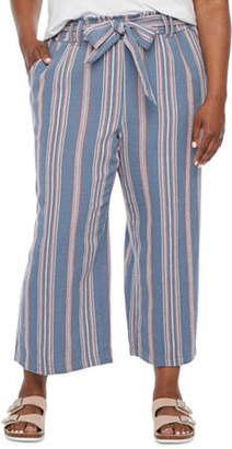 A.N.A Plus Womens Soft High Waisted Wide Leg Pull-On Pants