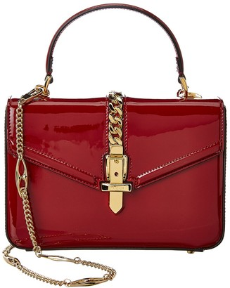 Gucci Sylvie 1969 Mini Patent Top Handle Shoulder Bag