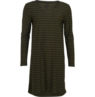 Animal Womens Casual Jersey Dress Woodland Green