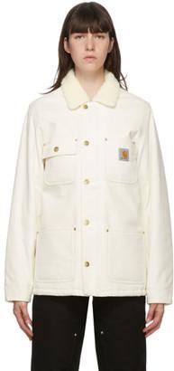 Carhartt Work In Progress White Fairmount Jacket