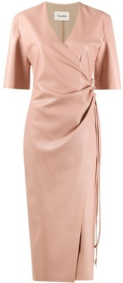 Nanushka Draped Front Wrap Dress
