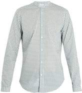 Boglioli Grandad-collar geometric-print cotton shirt