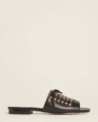 Kurt Geiger Black Odette Leather Slide Sandals