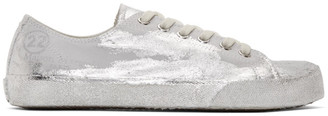 Maison Margiela Grey and Silver Tabi Sneakers