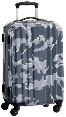 Pottery Barn Teen Channeled Hard-Sided Gray Camo Carry-on Spinner, 22&quot